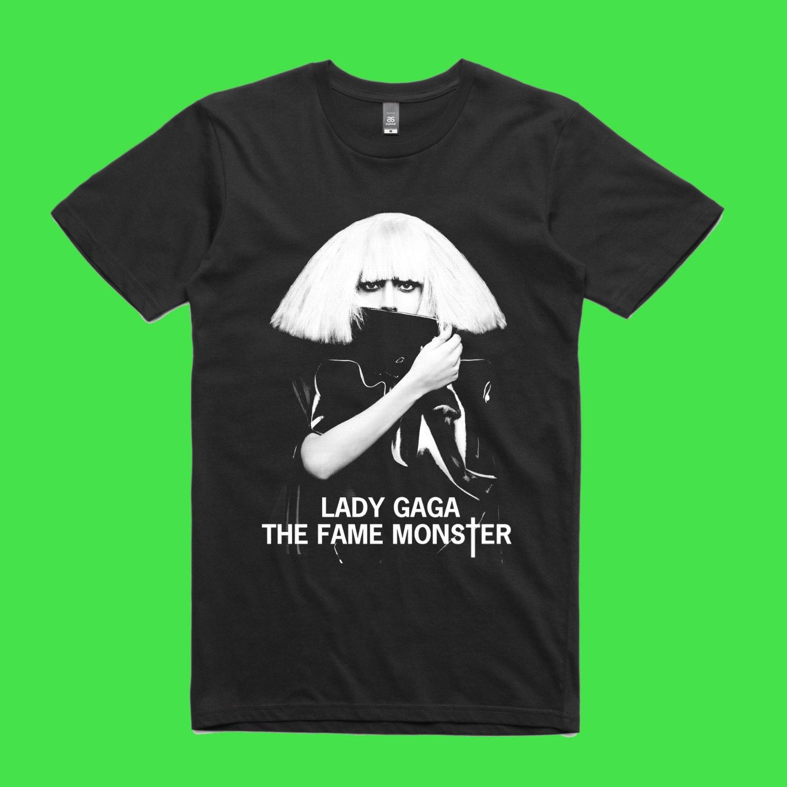 Lady Gaga Music The Fame Monster Mens Gildan Black S-XL Tees Tshirt