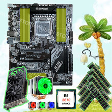Recommend to buy motherboard Runing X79 motherboard CPU Xeon 2670 C2 2.6GHz with cooler 8*16G 1600 RECC video card GTX1050TI 4G(China)