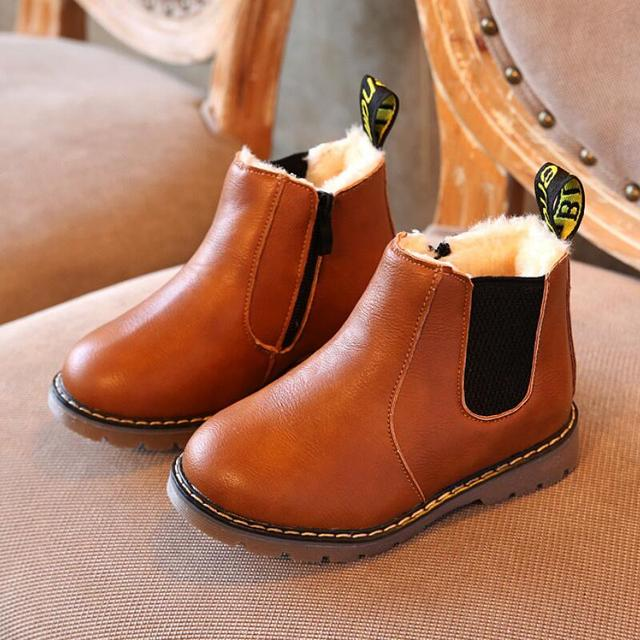 Boys Winter Leather Boots