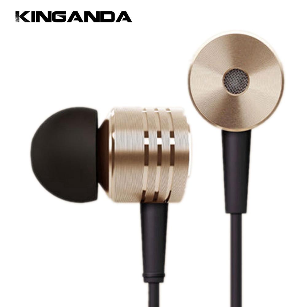 Silver Gold Plate Headphone with Microphone for Xiaomi Piston 2 Classic Earphone MIC Headset Volume Control Earpiece hifi 3.5mm xiaomi piston air capsule earphone black silver