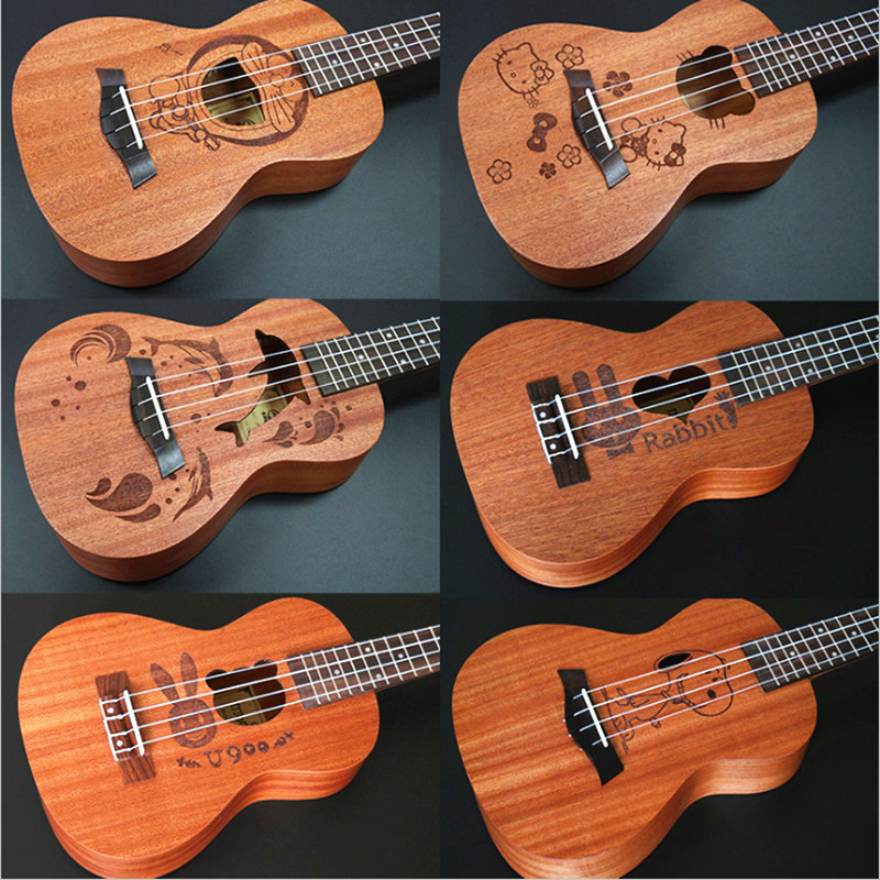 23 inch Ukulele 4 String Instruments Hawaiian Mini Guitar 6 Kinds of Cartoon Patterns Kids Gift Sapele Ukelele Music Instrments forex b016 xw 8295