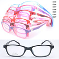 wholesale 5011 dual color full-rim  durable 180 degree flexible hinge rectangle kid TR90 optical glasses frame free shipping