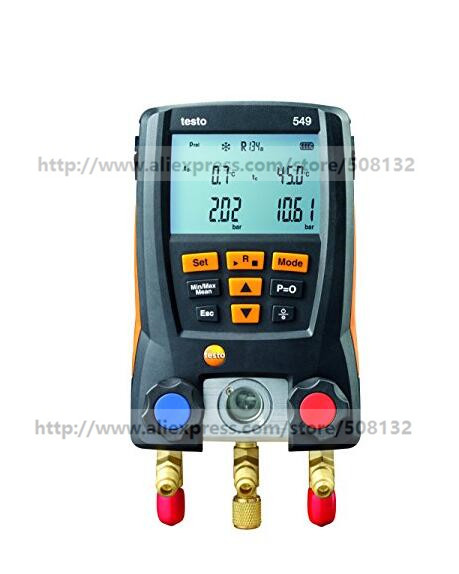 Testo 549 Digital Manifold Gauge, 2 Valves,System For HVAC 0560 0550