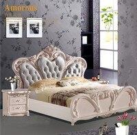 Высокого качества кровать модный Европейский Французский Резные прикроватные 1,8 м кровать 42