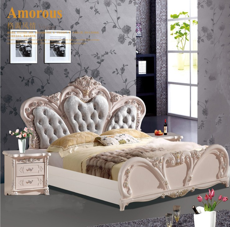 high quality <font><b>bed</b></font> Fashion European French Carved bedside 1.8 m <font><b>bed</b></font> 42