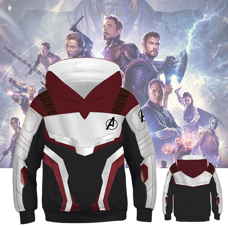 Sweatshirt Kids Tracksuit Girls Hoodies Marvel Avengers Superhero Captain-America Boys title=