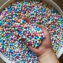 Colours No Bleeding 500g/bag Polystyrene Styrofoam Beads For Slime Mini Foam Balls Decorative Ball DIY Craft Supplies TOYS BEAD