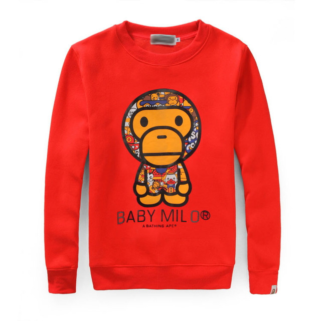 7cd7e873722 bape sweatshirt 2015 new Europe brand baby milo Clothing hoodies Cartoon  Monkey print Men s Sportswear cotton fashion Pullover