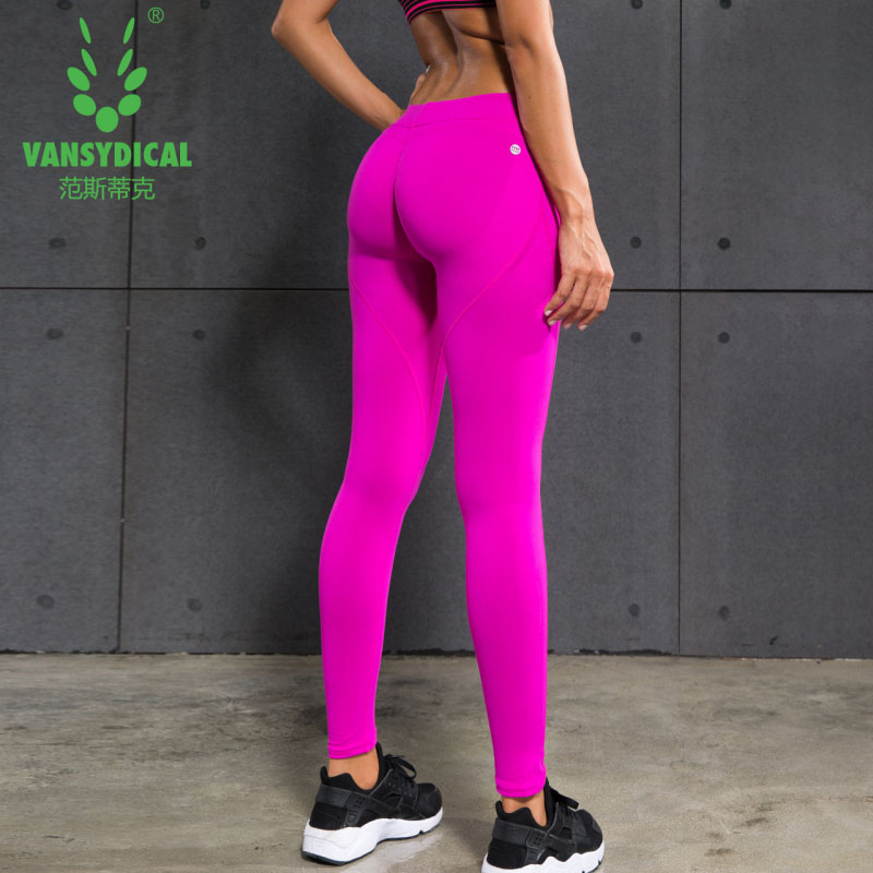 4877f6a8054 US $17.76 5% OFF|Hot Women Yoga Pants Shaping Hip High Waist Stretched  Sports Pants Ladies Gym Compression Running Tights Women Leggings  Fitness-in ...