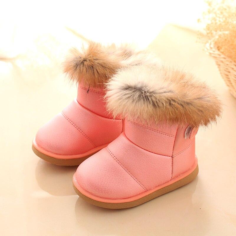 A88 Schwarz Weiß Rose Winter Schnee Warme Plüsch Mädchen Weichen Boden Mädchen Winter Turnschuhe Schuhe Für Kind Neue Sorten Werden Nacheinander Vorgestellt