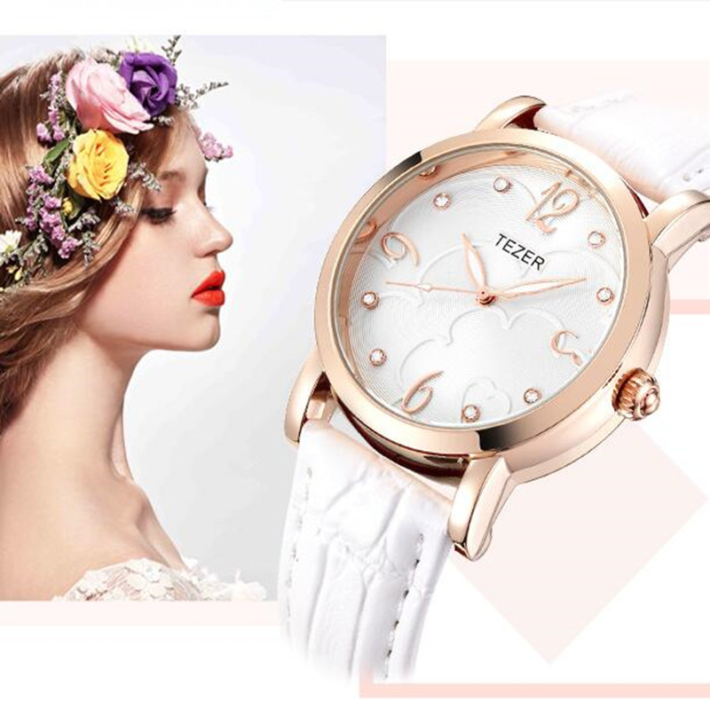 Подробнее о TEZER Brand Luxury Wrist Watch For Women Rhinestone Crystal Fashion Ladies Analog Quartz-Watch Montre Femme Clock Female C80 2017 hodinky kimio brand fashion women analog quartz watch luxury ladies pearl crystal wrist watch relojes mujer montre femme