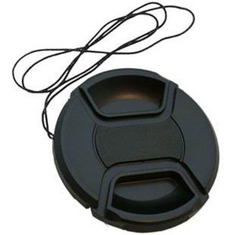 49 52 55 58 62 67 72 77 82 86mm centro pitada snap-on tampa da lente da capa para a lente canon/nikon