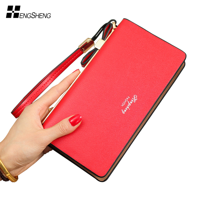 Women Wallet Long Purse Solid Leather Phone Compartment Zipper Women Purses  Luxury Brand High Capacity Clutch Bag for Women Gift 7832c07871
