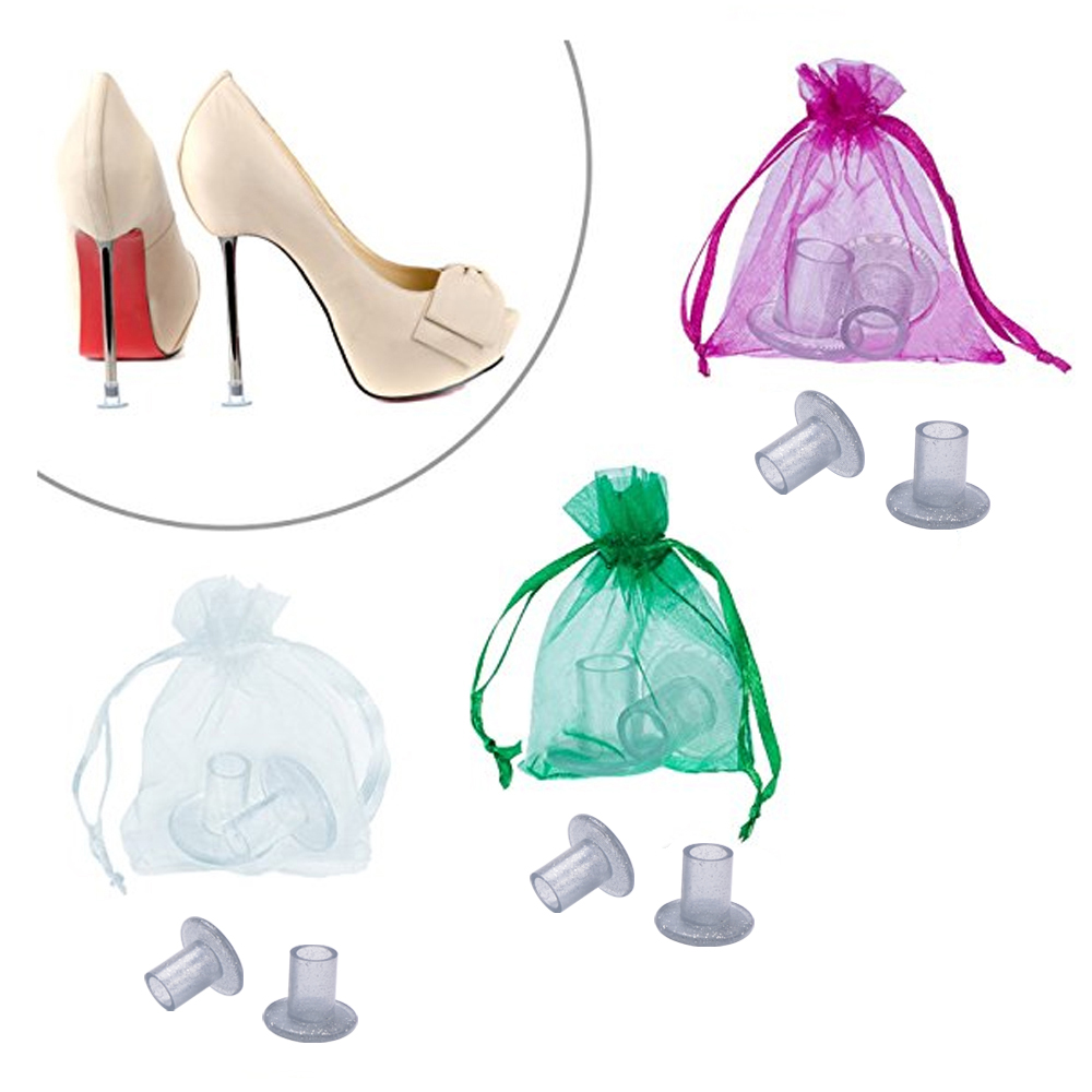 90 Pairs / Pack High Heel Protectors Silvery Heel Stoppers For Stiletto Heels Shoes Walk in Grass At Weddings & Outdoor Events