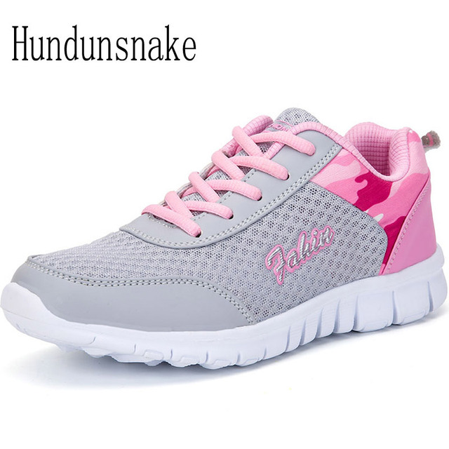 Hundunsnake Sepatu Olahraga Wanita Sepatu Olahraga Abu-abu Air Mesh Ringan  Bernapas Sepatu Wanita 2018 3cb23d0fbc