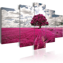 5 pieces/set Landscape tree Picture Print Painting On Canvas Wall Art Home Decor Living Room PJMT-B (32)