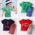 Kid Clothing Set Baby Boy Summer Cotton Clothes Short-sleeve T shirt+Striped Shorts Boys Cartoon Clothing Sets for Summer