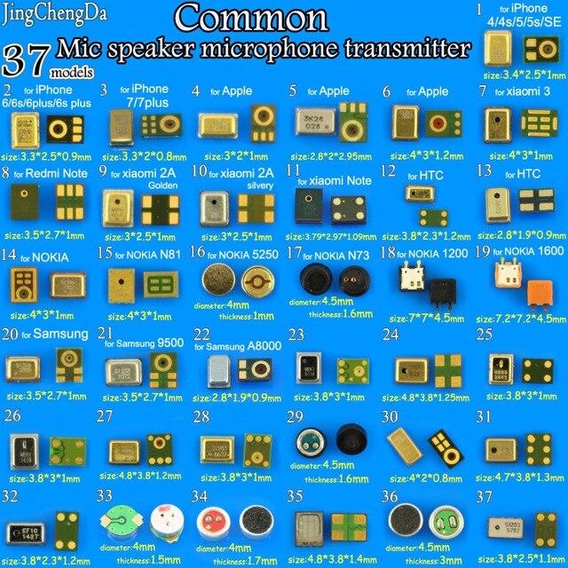 JingChengDa 37 modelle commom Lautsprecher Mikrofone Inneren MIC Ersatzteile Für iPhone für Xiaomi für Redmi für samsung für NOKIA
