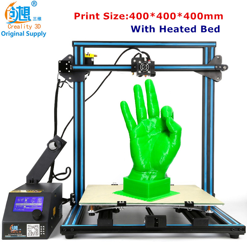 2017 Creality CR-10-plus Large Printing Size 400*400*400mm DIY Desktop 3D Printer Various Filament With Heated Bed Free Shipping