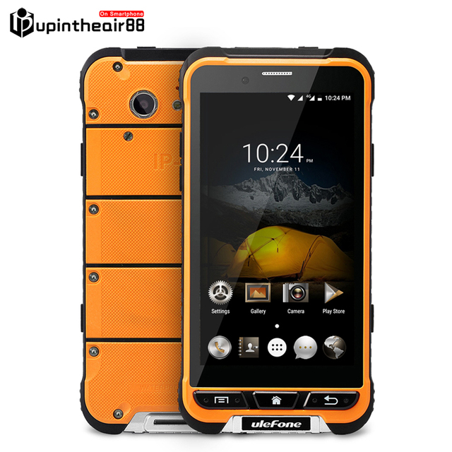 New Arrivial Ulefone Armor Waterproof Smartphone 4G LTE MTK6753 Octa Core 3G+32G 13MP Shockproof 3500mAh WCDMA 3G Android 6.0