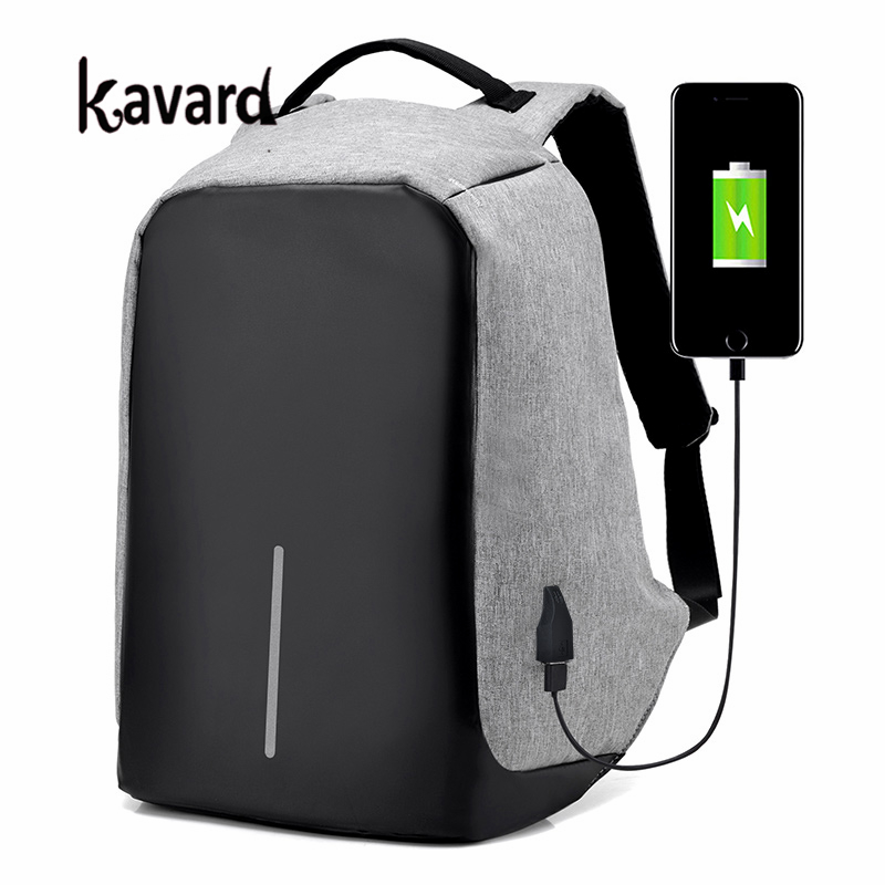 Kavard anti theft backpack Men School Bags Function Travel Laptop Backpack Women Casual mochila antirrobo with USB for Charging kingsons external charging usb function school backpack anti theft boy s girl s dayback women travel bag 15 6 inch 2017 new