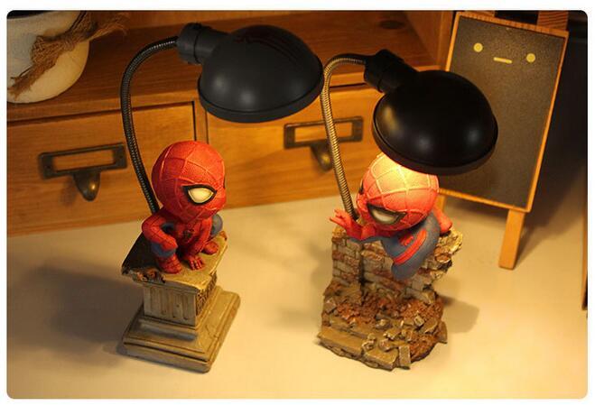 4 Styles New Arrival Superhero Spider Man Homecoming Cute Model Lamp ...