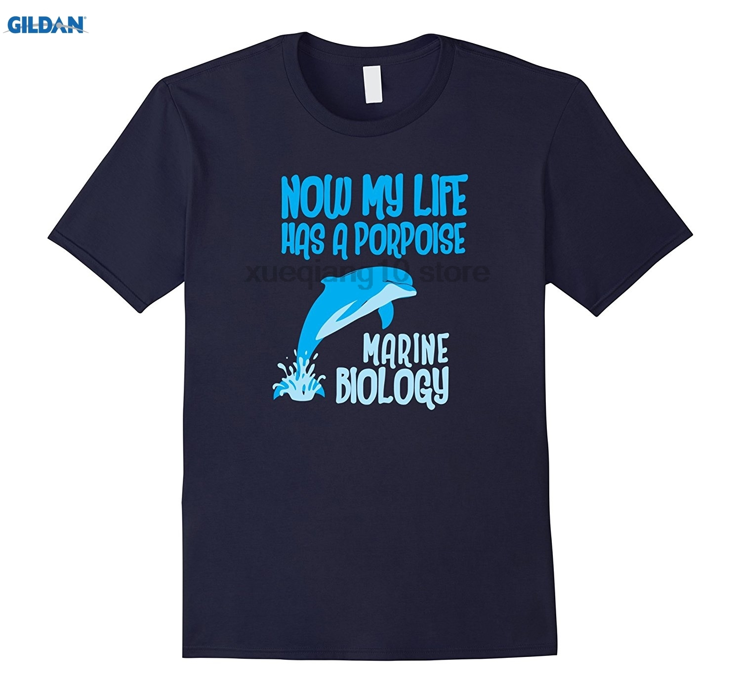 GILDAN GILDAN Now My Life Has A Porpoise Marine Biology T Shirt