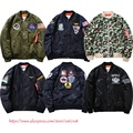 USA Army Military Camouflage Jacket Men Women High Quality Streetwear Nasa Rockets Embroidery Badge Flag Kanye Windbreaker Coats