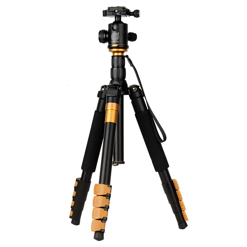 Здесь можно купить  QZSD 570AProfessional Camera Tripod Aluminum alloy Photo Tripod with  Rocker Arm Ball Head for Canon Nikon Sony SLR Camera  Бытовая электроника