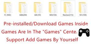 Image 5 - 7 אינץ נייד משחק קונסולת כף יד עם 1500 משלוח רטרו מיני משחקים עבור neogeo arcade משחק וידאו עבור snes 16 קונסולה קצת