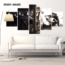 Home Decor Canvas Poster rainbow six siege Painting Wall Art Modern 5 Piece Oil Painting Picture Panel Print A-034