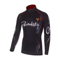 2019 NEUE Gamakatsu Neue Angeln Kleidung Outdoor Sports Lauf Shirts Anti UV Atmungsaktive Männer Stehen Kragen Radfahren Wandern Kleidung-in Anglerbekleidung aus Sport und Unterhaltung bei