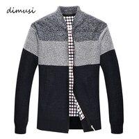 DIMUSI осень-зима Для мужчин свитер пальто из искусственного меха шерстяной свитер куртки Для мужчин молния вязаный толстый слой Повседневное...