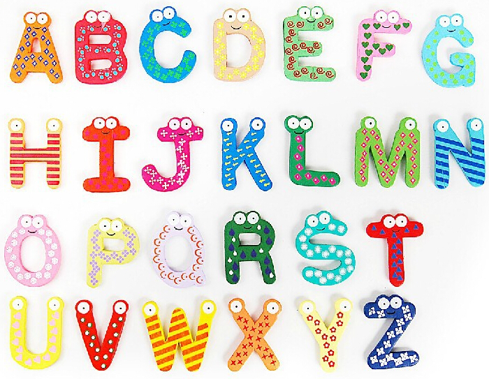 Aliexpresscom buy wood 26 alphabet letters fridge for Magnetic letters for babies