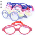 Porción al por mayor 3543700 de gama alta calidad TR90 anteojos de la forma redonda con clip ajustable de la correa infantil marco óptico