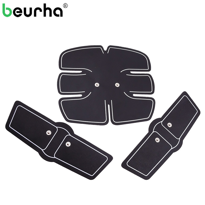 лучшая цена 3PCS Massage EMS Abdominal Muscle Trainer Sticky Tapes Weight Loss Body Slimming Pads for ABS Electrical Muscle Stimulator