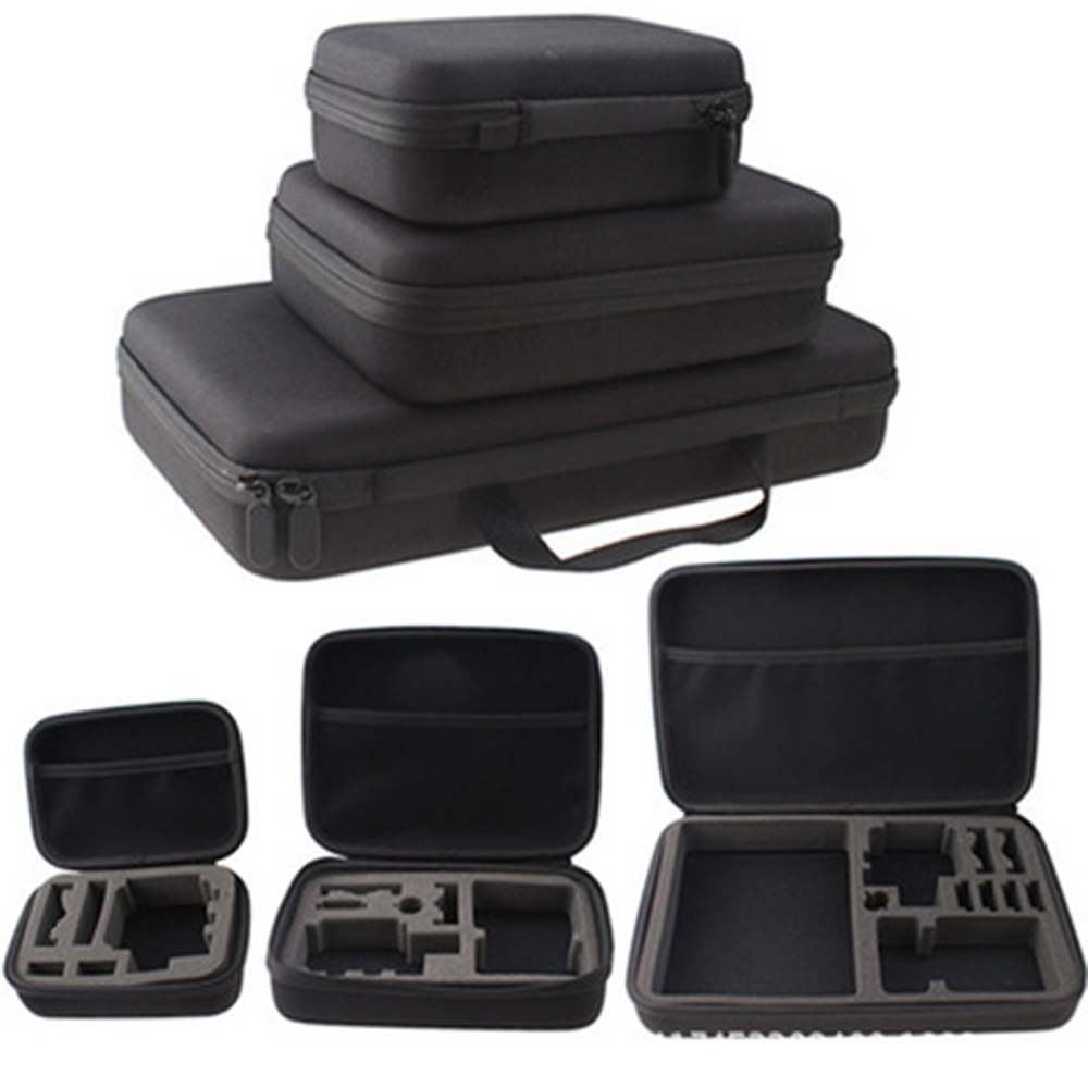 Portable Action Camera Case For Gopro Accessories Small Medium Large Size Anti-shock Storage Bag For Gopro Hero 2/3+/4 Sport Cam