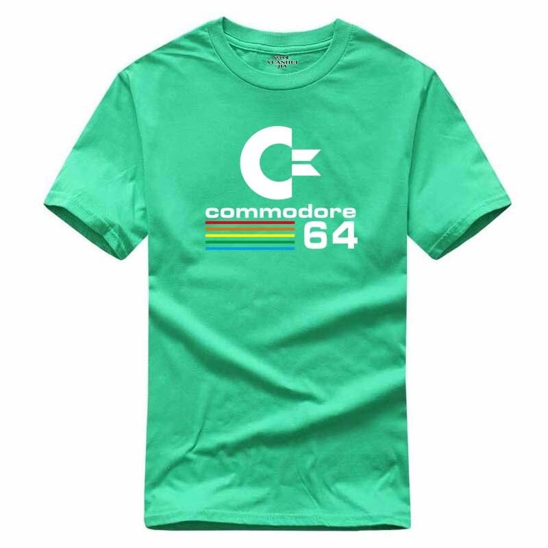 Ретро Топ Commodore 64 Для мужчин; летняя футболка в стиле хип-хоп фитнес ММА футболка Homme новые хлопковые для отдыха модная брендовая одежда