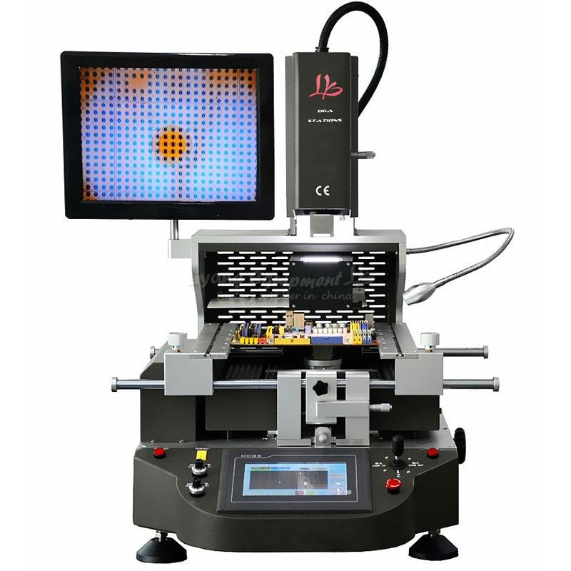 3 zones hot air optical Precision optical alignment system BGA rework station for phone reparing f 204 mobile phone laptop bga rework reballing station hot air gun clamp