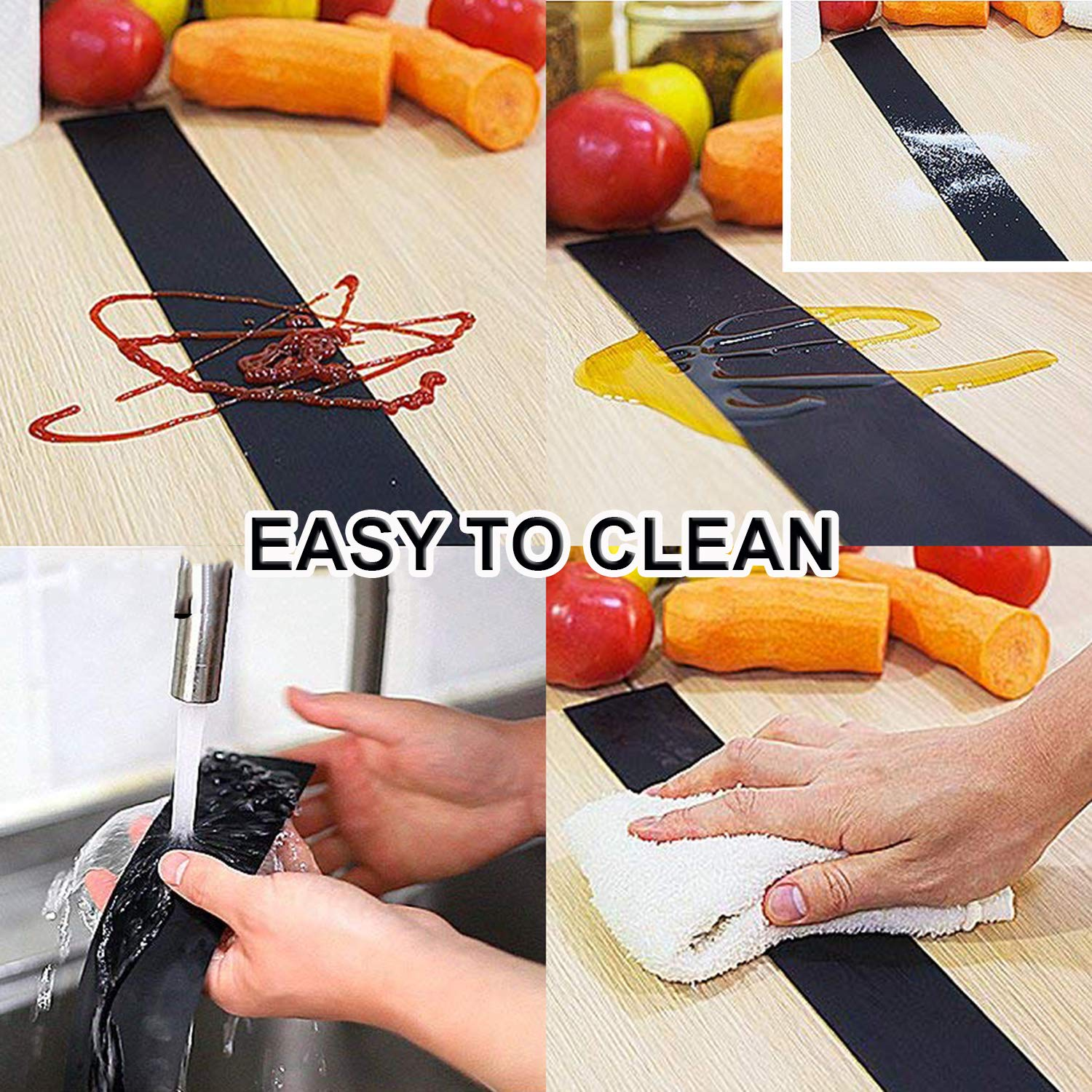 HTB11xgWbBiE3KVjSZFMq6zQhVXaN - Kitchen Silicone Stove Counter Gap Cover Set of 2 Heat Resistant Stove Gap Fillers Oil and Grease Proof Sealing Strip Stove-top