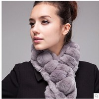 Free Shipping 2014 Winter Among The Latest Version Of Rabbit Hair Ball Scarf Rabbit Fur Scarf