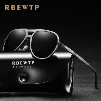 RBEWTP Unisex Aluminum magnesium Classic Polarized Sunglasses Men Women Driving Sun Glasses Male Goggle UV400 Gafas De Sol