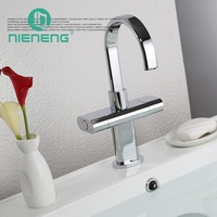 Nieneng New Brand Waterfall Faucet Tall Hardware Bathroom Basin Mixer Tap Hot And Cold Bathroom Sink Faucet Fixtures ICD60347