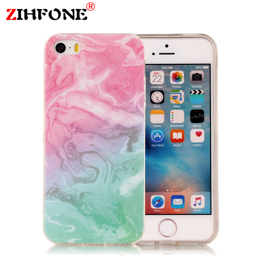 phone cases iphone 5s 3d printing cover for iphone 5s 5 se silicon marble 9445
