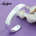 ANDARA Free Shipping Wholesale 925 Jewelry Silver Plated Bangle Bracelet Fashion Women Jewelry Cuff Bracelets Pulsera B030