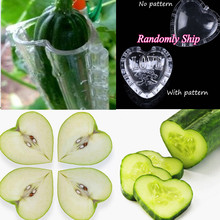 5PCS Cucumber Shaping Mold DIY Heart/Star shaped Plastic Fruit Vegetable Growth Forming Mould Bonsai Plants Tools for Garden