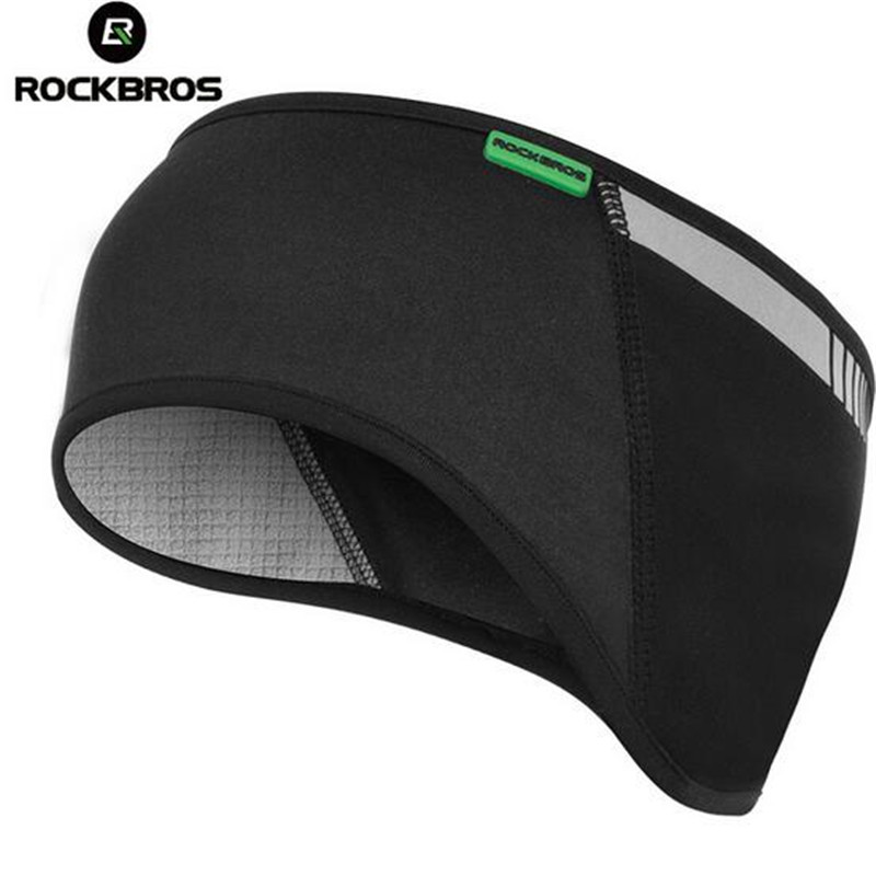 ROCKBROS Bicycle Cap Winter Warm Fleece Thermal Ear Warmer Protect Outdoors Sports Reflective Handwear Cycling Bike Headband Hat outdoor sports winter thermal fleece warm ski hat earmuffs cycling cap windproof hiking riding snow cap men women knitted hat