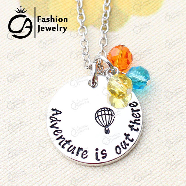 Adventure Is Out There Going Away Travelling Flying House Necklace Christmas Gift Jewelry Ln1286