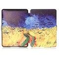 Nova Moda Ultra Slim HD Pintura Patterns Luxo Folio Virar couro caso tampa inteligente para amazon kindle paperwhite 1 2 3