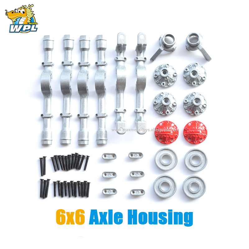 WPL Upgrade Full Metal Spare Part Axle Housing Front Rear Metal Shaft Shell OP Fitting Accessories B14 B16 B24 C14 C24 C34 B36